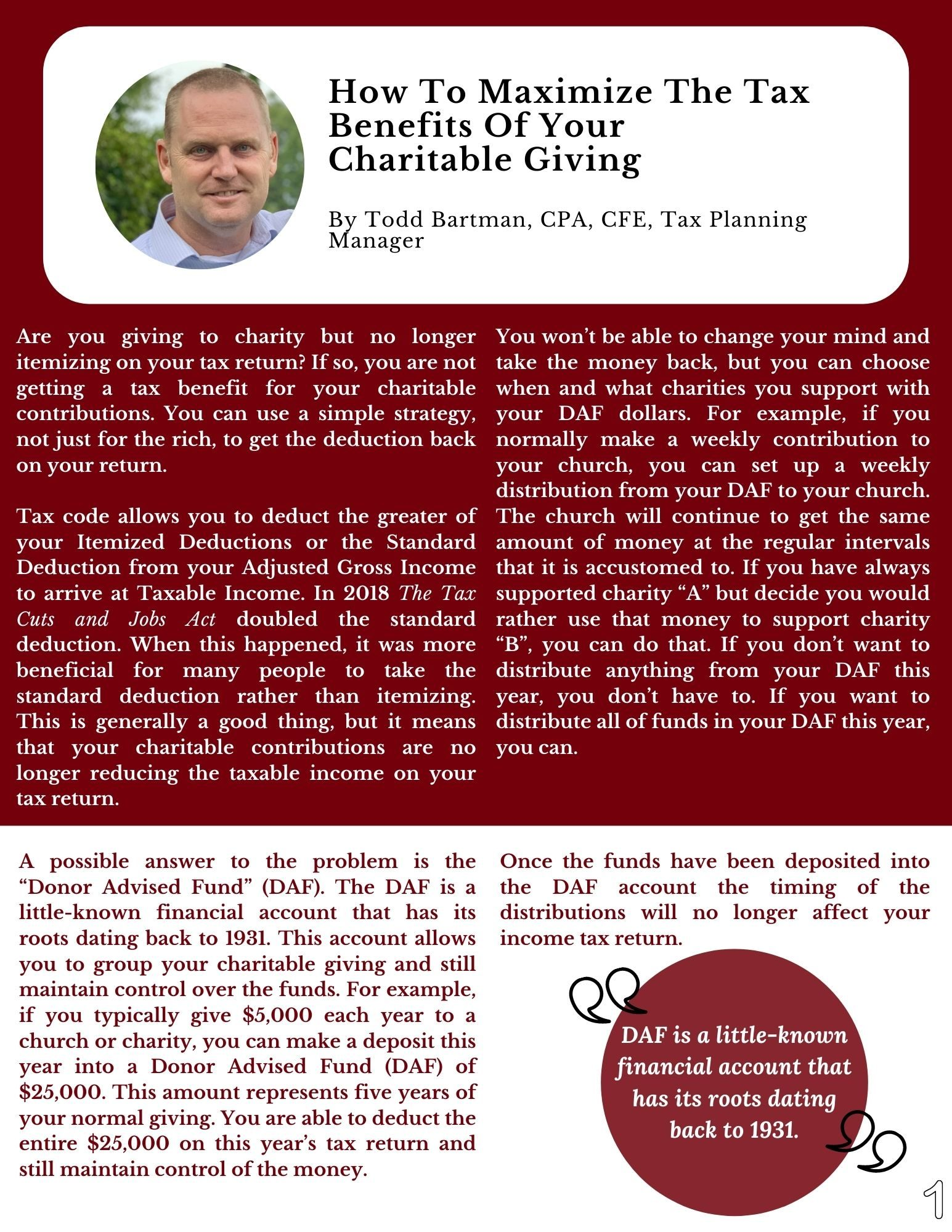 How To Maximize The Tax Benefits Of Your Charitable Giving (3)